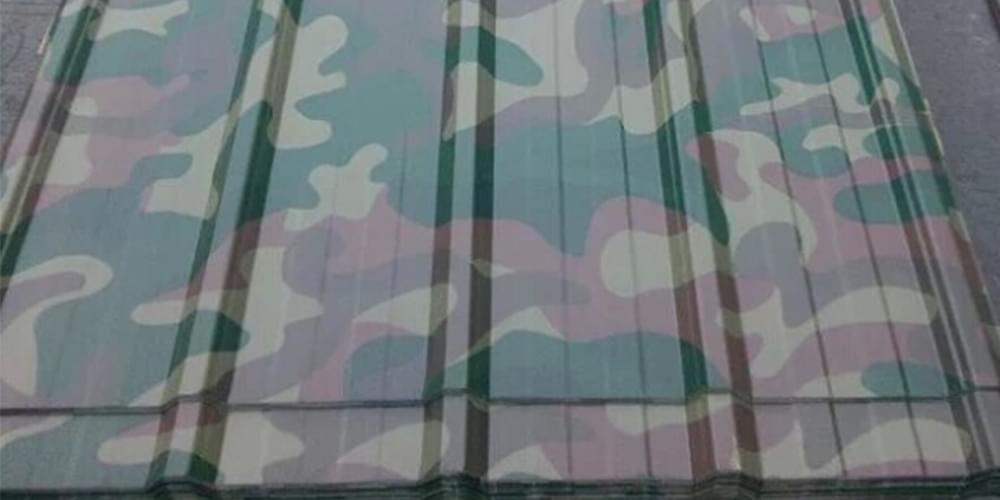 陆军迷彩彩钢瓦