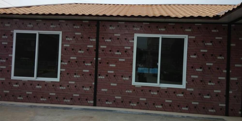 砖纹夹芯板集成房屋