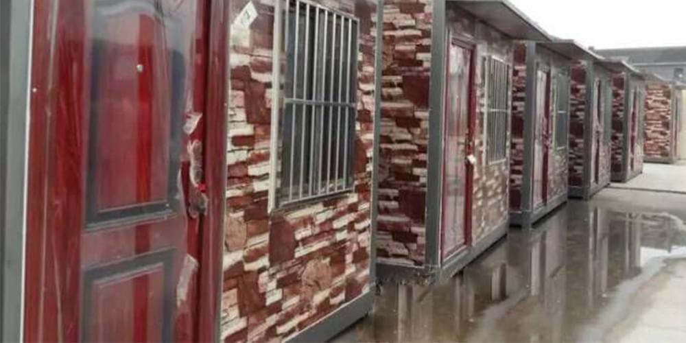 砖纹彩涂钢板--夹芯板集成房屋