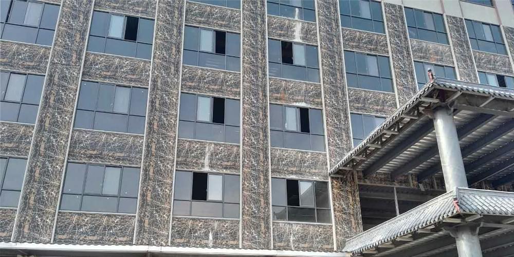 大理石纹彩涂钢板之钢结构