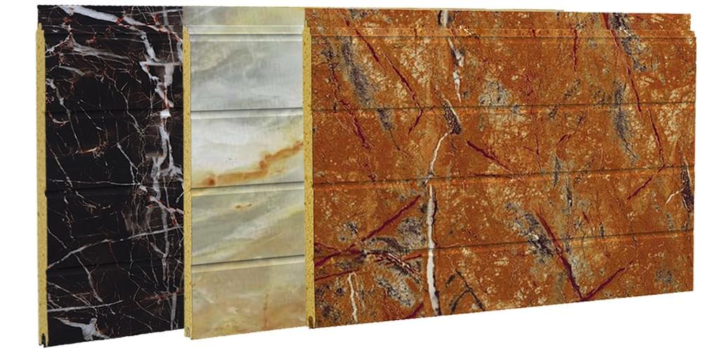 大理石纹彩涂钢板--夹芯板