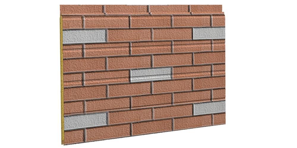 砖纹彩涂钢板--夹芯板