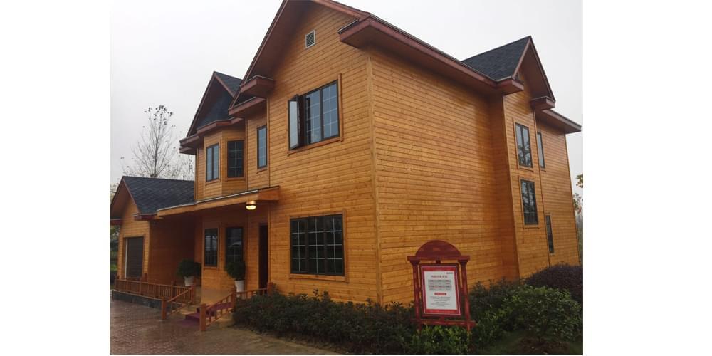 木纹印花彩钢板钢结构房屋